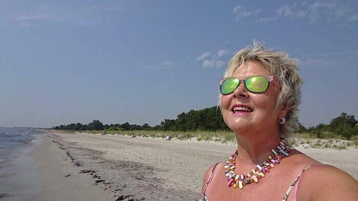 Annicka på Stranden