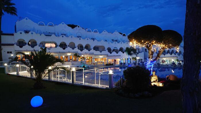 Kvällsbelysning i Marbella
