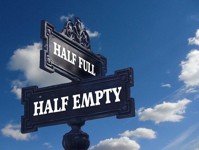 Half full - Half empty